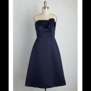 ModCloth bridesmaid size 0 blue dress